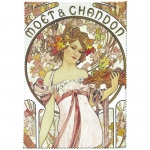 Utěrka na brýle Mucha - Moët & Chandon