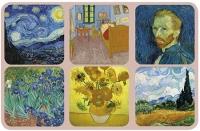 Podložky Van Gogh 10*10 cm - 6 ks
