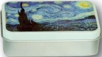 Dóza Van Gogh - Hvězdná noc - malá 9,5*6*2,7 cm