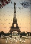 Utěrka Paris pohlednice - 45*65 cm