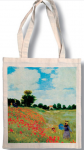 Taška bavlněná barevná - Monet - Vlčí máky