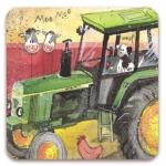 Podložka Green tractor 10*10 cm