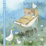 Přání k narození dítěte - Boy pram
