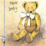 Přání k narození dítěte - Teddy bear
