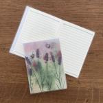 Notýsek Bees & lavender, 9*12 cm