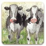 Podložka Curious cows 10*10 cm
