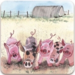 Podložka Five little pigs 10*10 cm