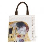 Taška plochá Klimt - Polibek
