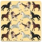 Podložka Horses 10*10 cm