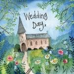 Přání svatební - Church and flowers