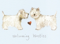 Prostírání korkové Welcoming westies, 29*21,5 cm