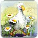 Podložka Duck in the daisies 10*10 cm