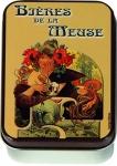 Dóza Mucha - Bieres de la Meuse - malá 9,5*6*2,7 cm