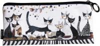 Pouzdro textil - Rosina Wachtmeister - Kočky v šedém