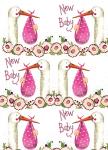 Balicí papír set 2+2 - New baby girl