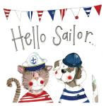 Podložka Hello Sailor, 10*10 cm
