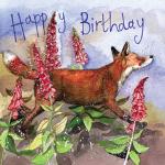Přání Fox and foxgloves