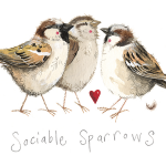 Magnetka Sociable sparrows