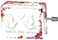 Hrací strojek Wedding - Classic doves