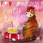 Přání Party hat cat