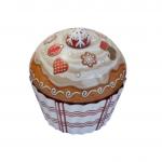 Cupcake velký bílý - plechová dóza