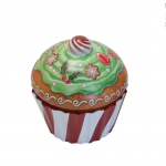 Cupcake velký s proužky - plechová dóza