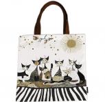 Taška plochá Rosina Wachtmeister - Kočky v šedém