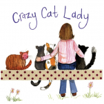 Podložka Crazy Cat Lady, 10*10 cm