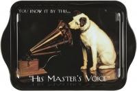Tác His Master's Voice plechový 14*21 cm