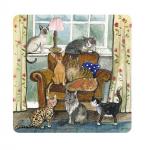 Podložka Cat house, 10*10 cm