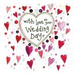Přání svatební - Wedding hearts