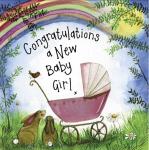 Přání k narození dítěte - Pink pram