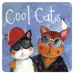 Podložka Cool cats, 10*10 cm