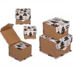 Krabice dárkové Černé - set 2 ks