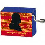Hrací strojek W. A. Mozart - silueta