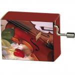 Hrací strojek Růže a housle - Happy Birthday