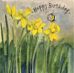 Přání Bee & daffodils