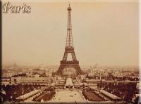 Cedule Paris sepia malá